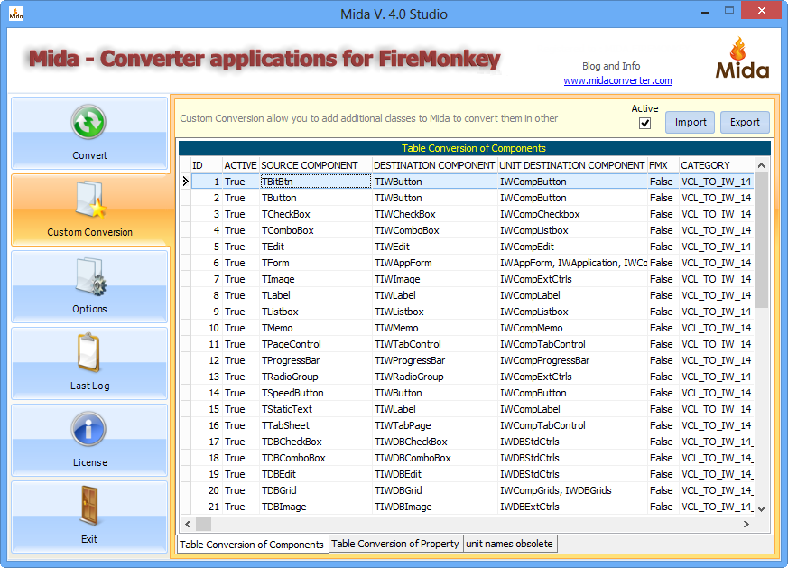VCL To IntraWeb – Mida Converter